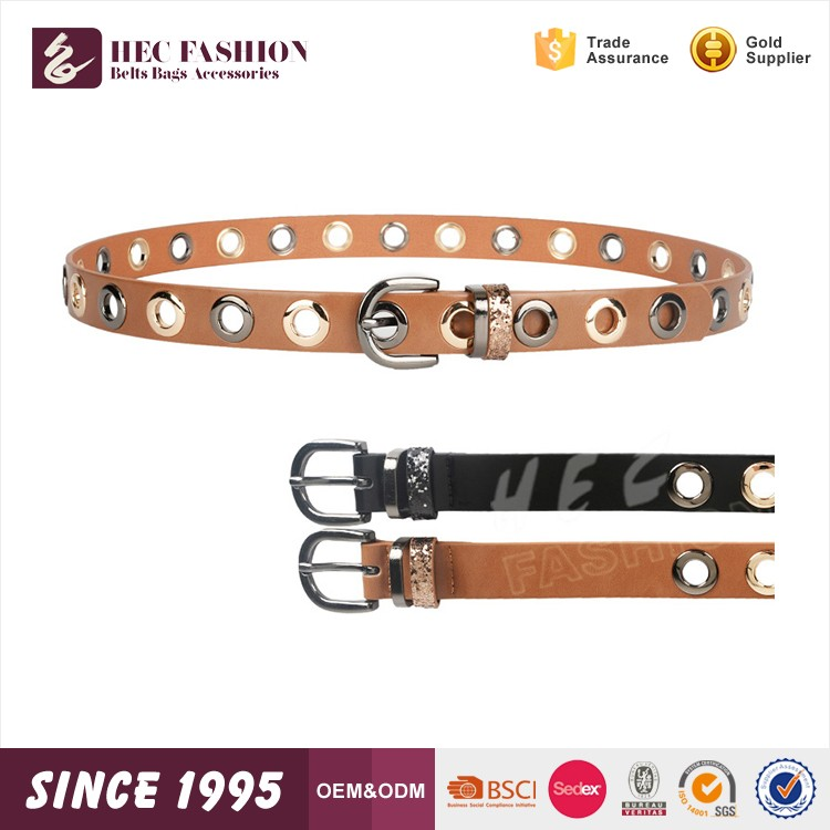 HEC OEM Designed Wenzhou Manufacturer Supply Waterproof Metal Fashion Buckel Belt