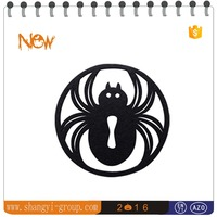 (HW4-01C)Halloween felt dinnerware drink coaster set