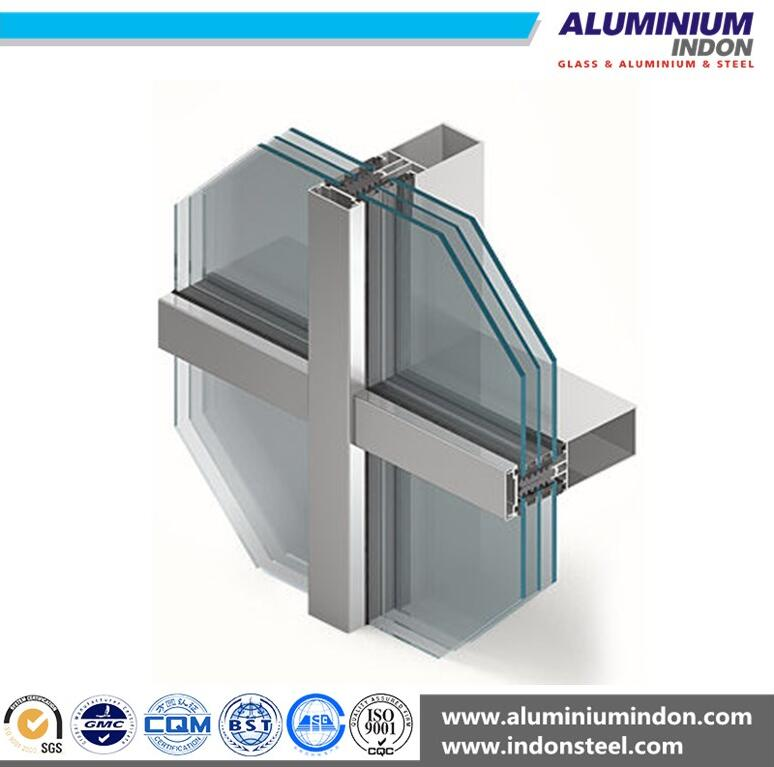High Quality Aluminum Profile for Cutain Wall