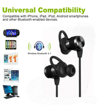 2017 newest in-ear wireless mobile magnetic noise cancelling headphones