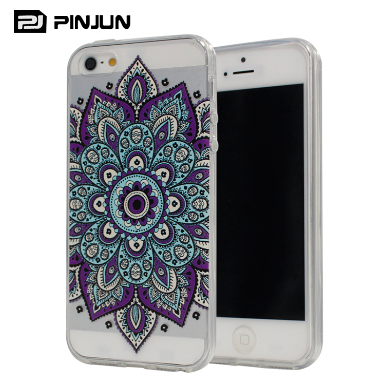 Fashion new design coloured drawing phone case for iphone 5 tpu case clear , for iphone 5s case