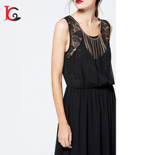summer clothing black beautiful long dress chiffon new style formal women party dress