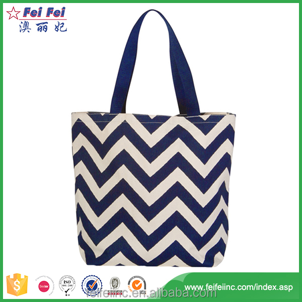 Fashion Style Organic Recyclable Shopping tote bag cotton canvas