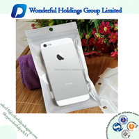 plastic ziplock bag with hang hole resealable pouch customised cell phone packaging iphone 6 case packaging