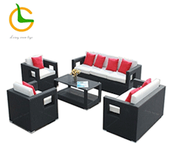 2016 hot sale Creative in foshan furniture market rattan patio bed garden swing LG-639691