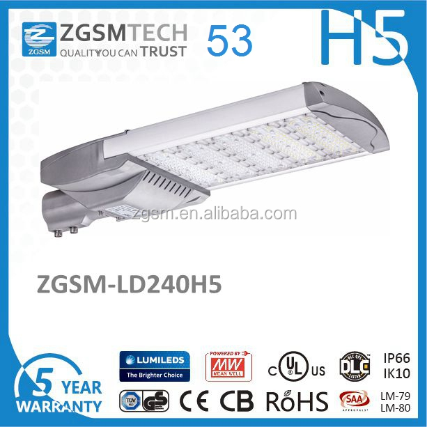 traditional HPS replacement 500w grace led street light for roadway 240W