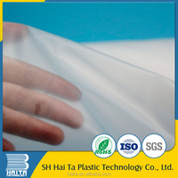 Water soluble pva plastic film for embroidery backing