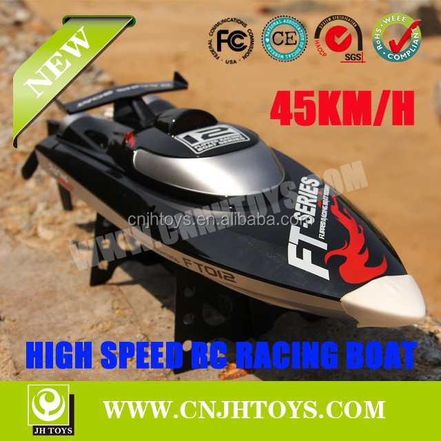 FT012 2.4G 4CH 45 KM/H Supter High Speed Brushless RC Model Ship With Water Cooling System RC Boat