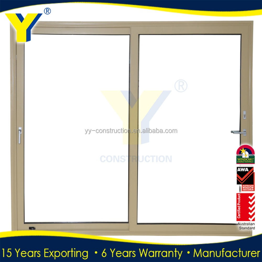 Hot sale insulated aluminium double glazed french gliding patio door