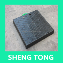 uhmwpe crane outrigger pad, truck/auto crane bearing support plate with competitive price