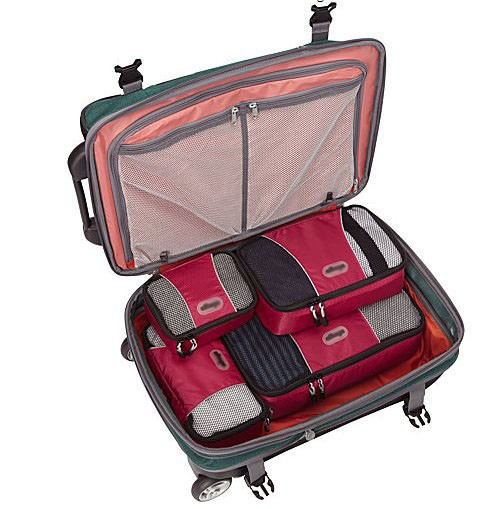2016 Hot Products TechLite Diamond Nylon Travel Packing Cubes for Luggage Clothes Tidying Durable