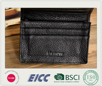 Man's luxury leather wallet black custom case