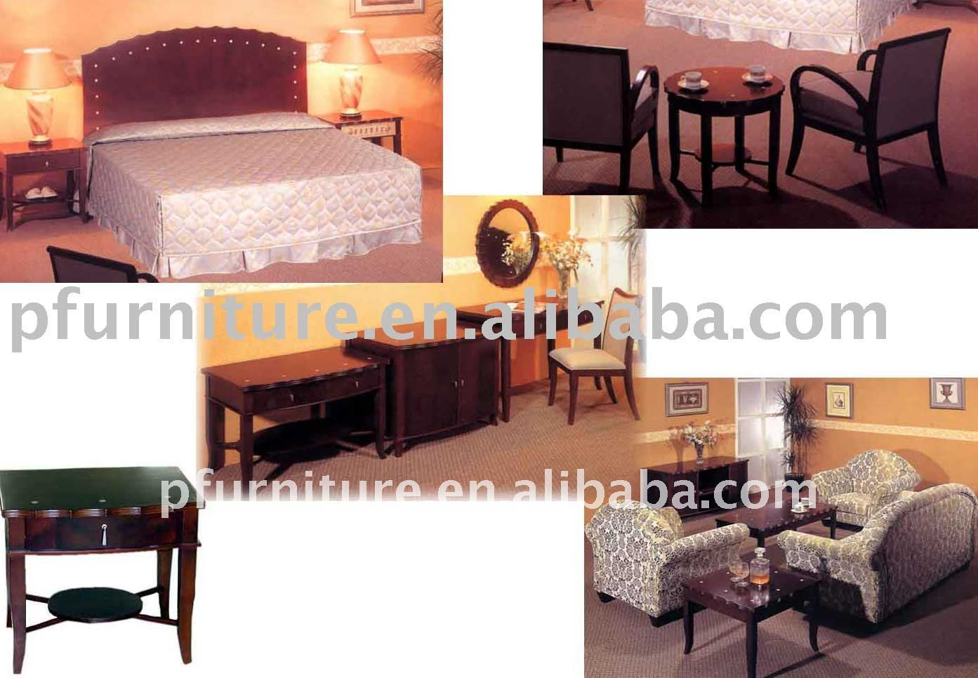 5 stars SHELL design hotel bedroom furniture PFG028