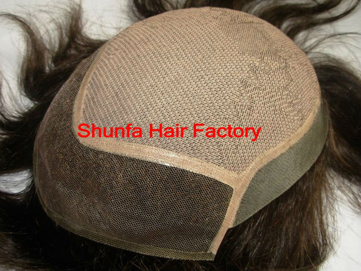 Hot sell !!! shunfa 100% human hair men's toupee
