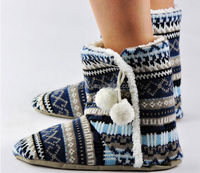 Fashion Ladies Winter Shoes Women Snow Knitted Boots