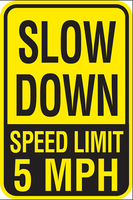 Wholesale China Products slow down speed limit sign