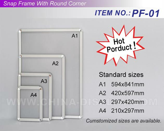 New special design elevator wall mounted advertising Aluminum Snap Frame