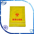 PE Yellow plastic zipper lock biohazard waste bag