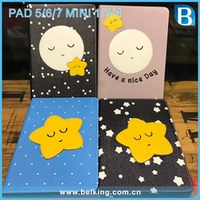 Star Design Flap Leather Case for iPad mini Cute Leather Cover Case for iPad 3 4 air air2 pro