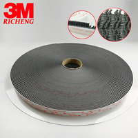 3M Dual lock Fastener Adhesive industrial Tape 250 type SJ3550 black self adhesive tape square high sticky size 0.75in * 1 in