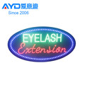 Alibaba high brightness led acrylic sign,led open sign,led eyelash exstension sign