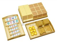 Complete Golden Bead Material,Montessori Math toys,Montessori wooden educational toys