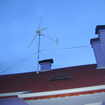 CE Approved Horizontal Axis 1kw wind turbine generator on your rooftop