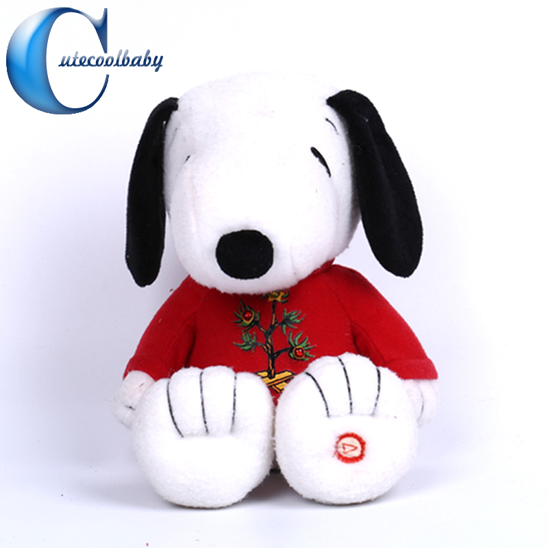 Embroidery Big Eyes Plush Dog Toy Lovely Gifts Stuffed Farm Animal Cartoon Dog Manufacturer In China