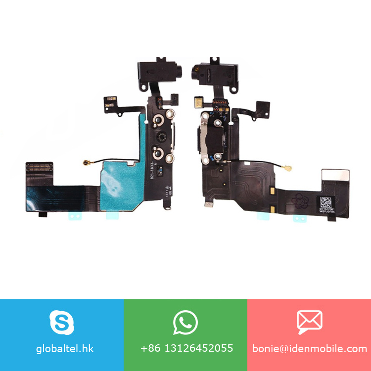 Headphone Audio Jack Charger USB Port Flex Cable for iphone 5c