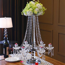 table top crystal chandelier centerpieces flower stand for weddings