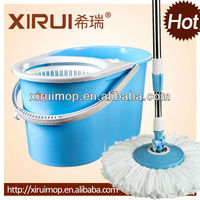 2013 newest design double top spin mop 360 degree supa mop color mop head