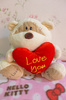 2016 China supplier custom stuffed teddy bear red heart teddy bear