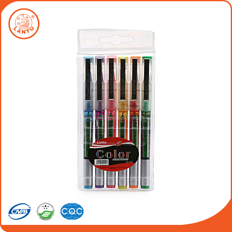 Lantu Stationary Set School Recycle Pen Colorful Ballpoint Roller Tip Pen