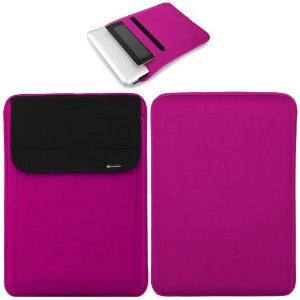 Pink neoprene child proof tablet sleeve case for apple ipad air