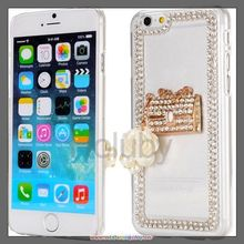 Cheap Alibaba Wholeasle Luxury Handbag Diamond Studded Transparent Hard PC Back Cover Phone Case for iPhone 6 6S 4.7 inch