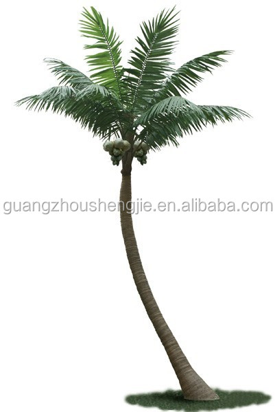 China professtional factory make hot sell landscaping bent artifical coconut tree