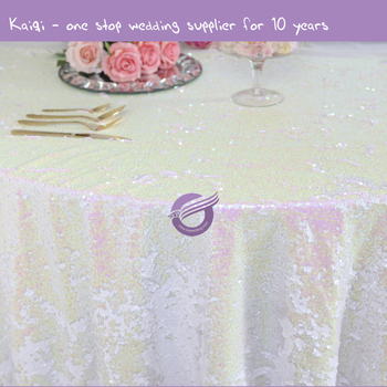 TX00213 cheap rainbow sequins metallic wedding event embroidery table cloths