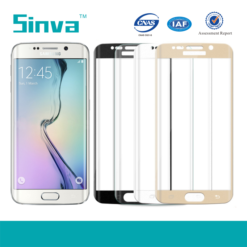 Full cover tempered glass screen protector for s6 edge plus With retail package