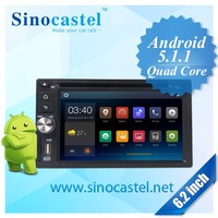 "Quad Core Android 5.1.1 Universal Car DVD Player with 6.2"" touch screen, GPS, Bluetooth, iPod, Screen Mirroring and 16G ROM"