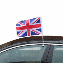 Wholesale Promotion Polyester hanging 12'' x 18'' union jack car flag