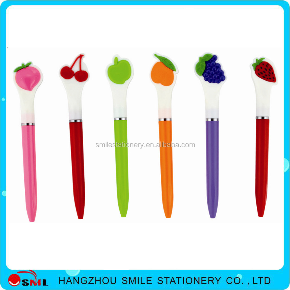 hot sale brands fruit ball point pen specifications