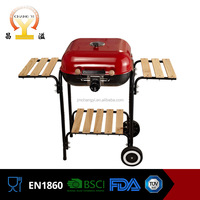 18inch and 22inch heat resistant handle vertical outdoor bbq grill oven with trolley