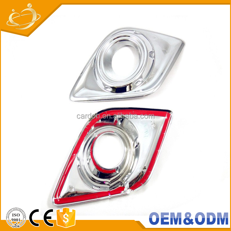 High Grade Certified Factory Supply accessories Plastic Fog Lamps Cover Chrome Double Color Trims For hilux revot for 2015