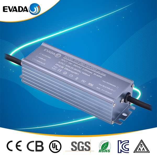 CE SAA approved 1200ma 60w ac dc led bulb driver