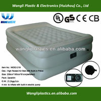PVC 3 Layer Built-in Pillow On Air Comfort Mattress