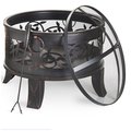 Wood Burning Steel Patio Outdoor Multifunctional Fire Pit