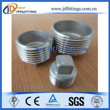 round head pipe plug /carbon steel threaded square pipe plug