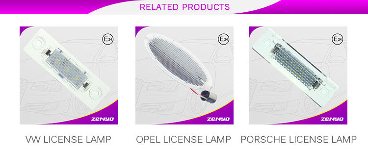E81/E87 led license plate lamp ZENYO Latest manufacturer price