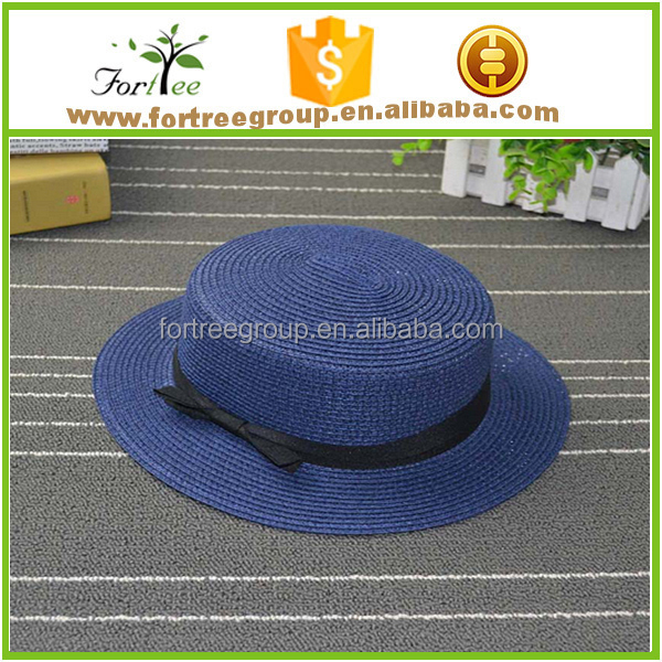 cheap custom straw hats wholesale paper straw boater hats