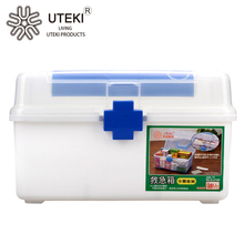 Family travel vehicle plastic first aid kit box medicine storage box